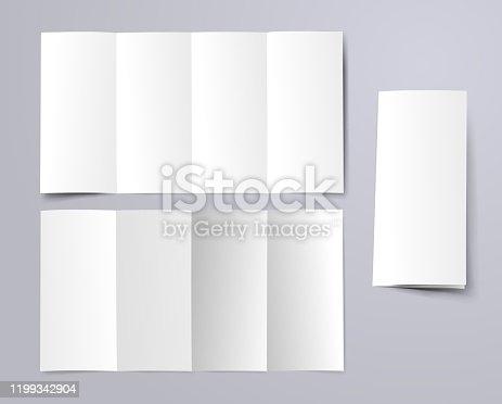 blank fourfold brochure