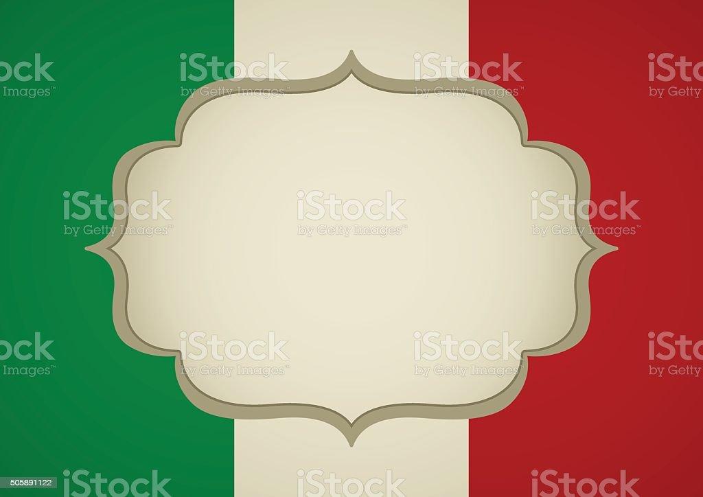Leeres Frame Auf Italien Der Insignia Stock Vektor Art und mehr ...
