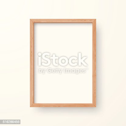 istock Blank Frame on White Background 516286455
