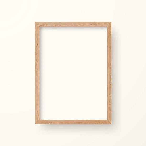 blank frame on white background - picture frame borders stock illustrations, clip art, cartoons, & icons