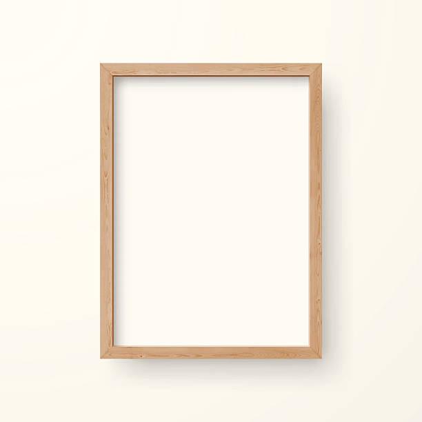 bildbanksillustrationer, clip art samt tecknat material och ikoner med blank frame on white background - wood sign isolated