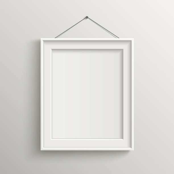 Royalty free picture frame clip art vector images for Photo clip wall frame
