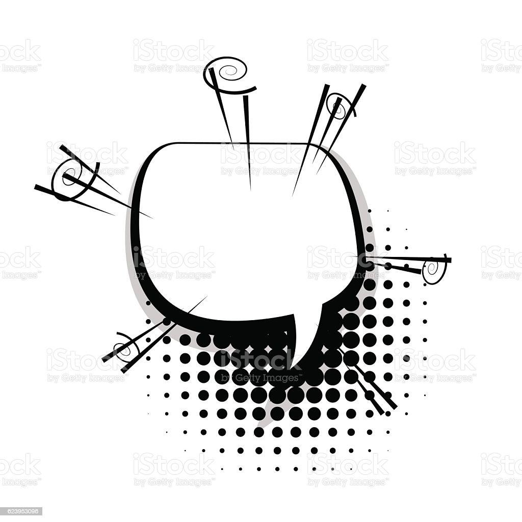Blank Fun Template Comic Speech Bubble Stock Vector Art More