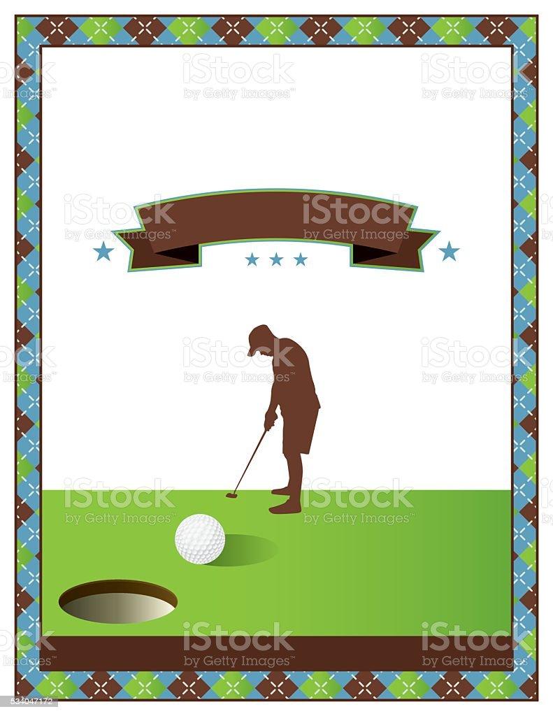 Blank Golf Tournament Flyer Template Stock Vector Art More Images - Free golf tournament flyer template