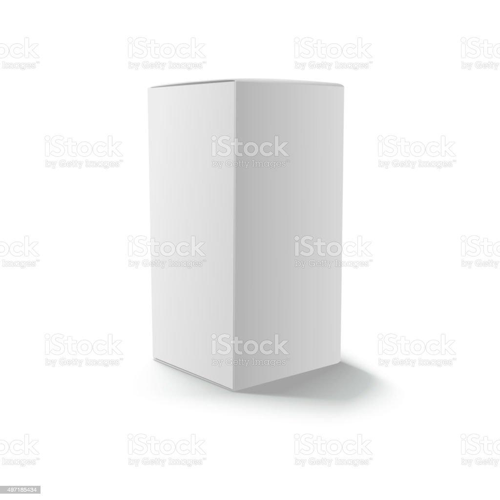 Blank gray box isolated vector art illustration
