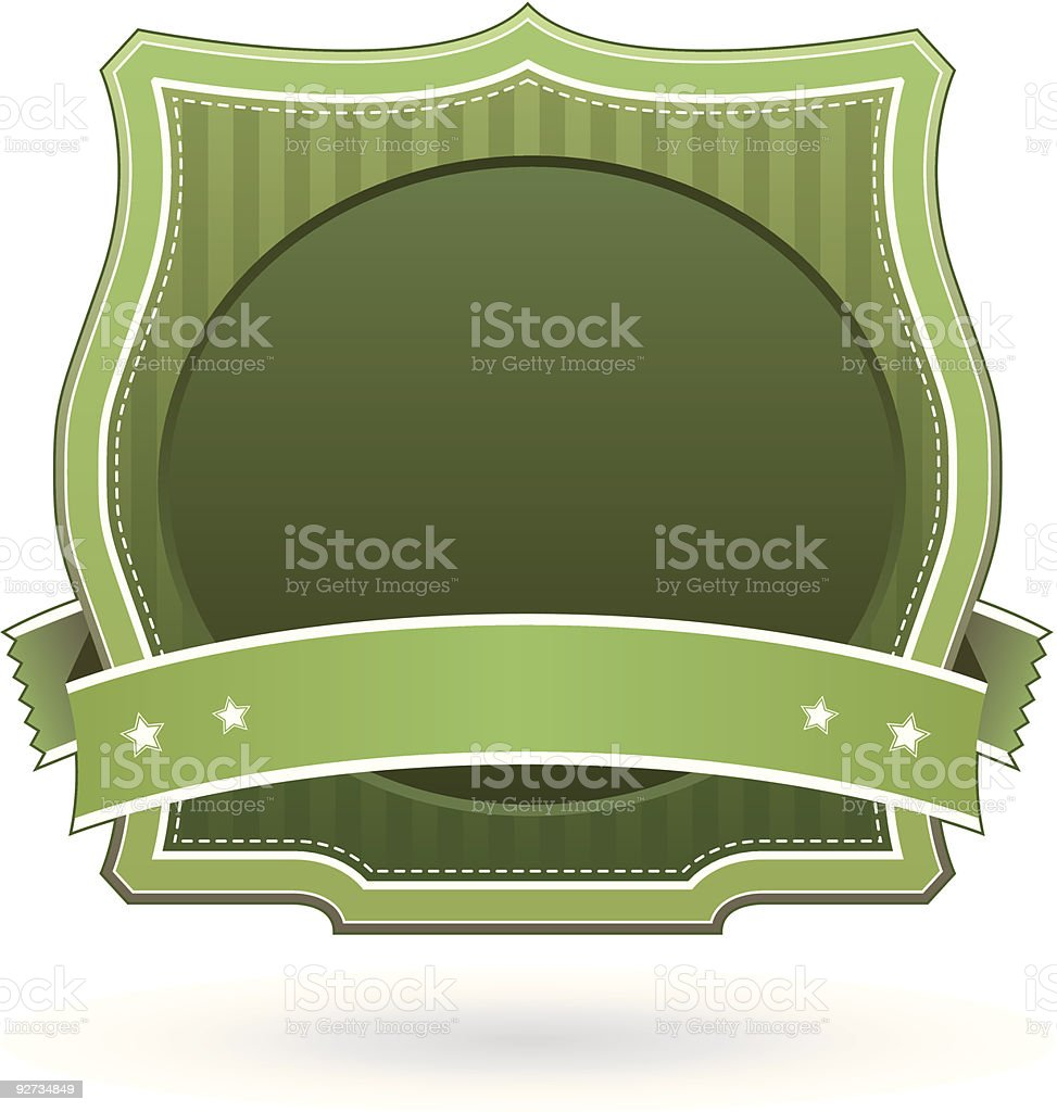 Blank green food or product label royalty-free stock vector art