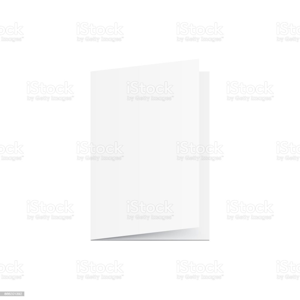 Blank Greeting card mockup vector on white background. Mockup concept vector art illustration