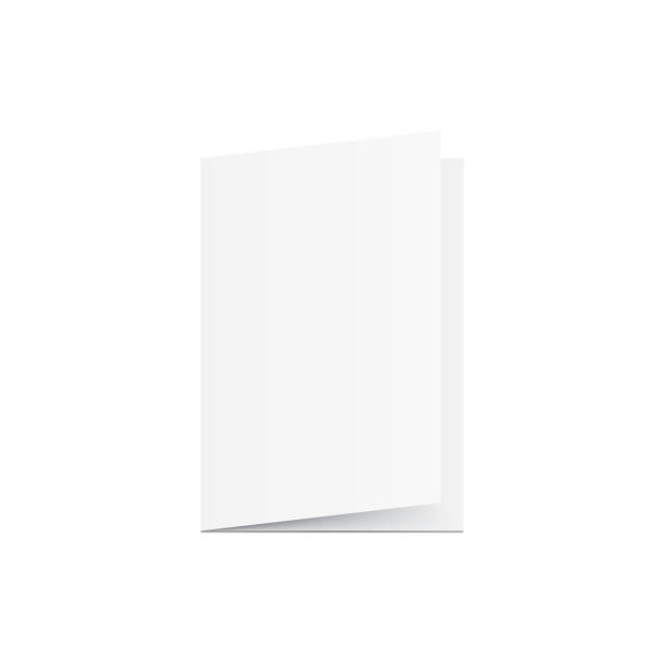blank greeting card mockup vector on white background. mockup concept - pustka stock illustrations