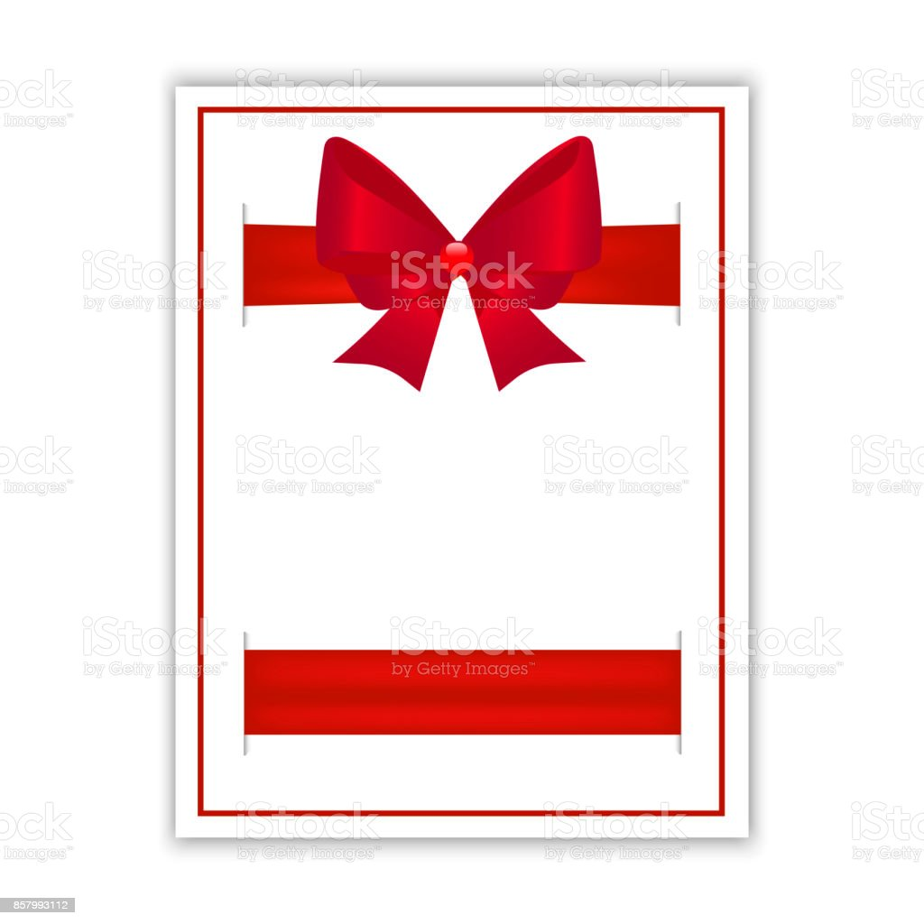 blank greeting card with red bow invitation flyer or brochure rh istockphoto com