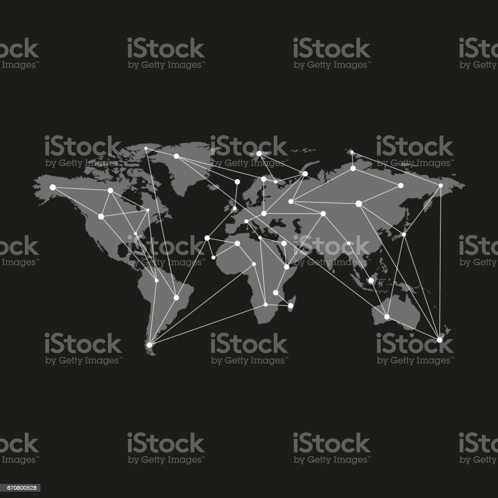 Blank grey similar world map isolated on black background monochrome blank grey similar world map isolated on black background monochrome world map template for website gumiabroncs Images