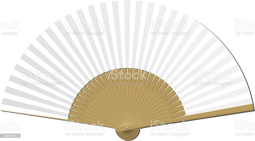 Blank handheld folding fan royalty-free stock vector art