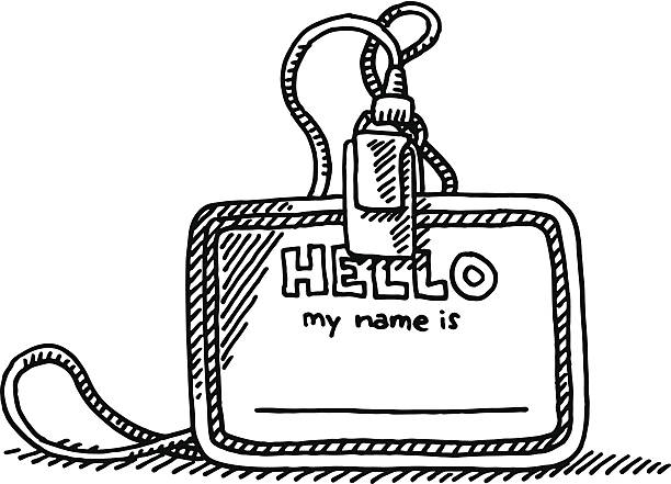 Hello My Name Is Illustrations, Royalty-Free Vector