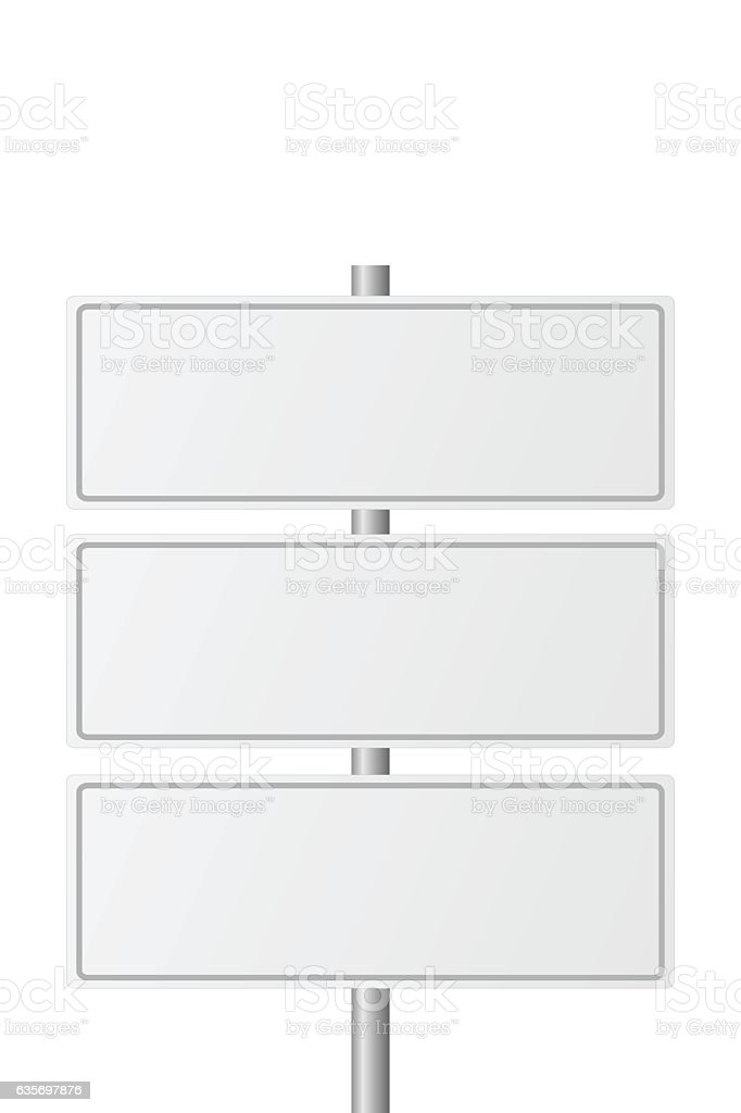 Blank Highway Signs royalty-free blank highway signs stock vector art & more images of advertisement