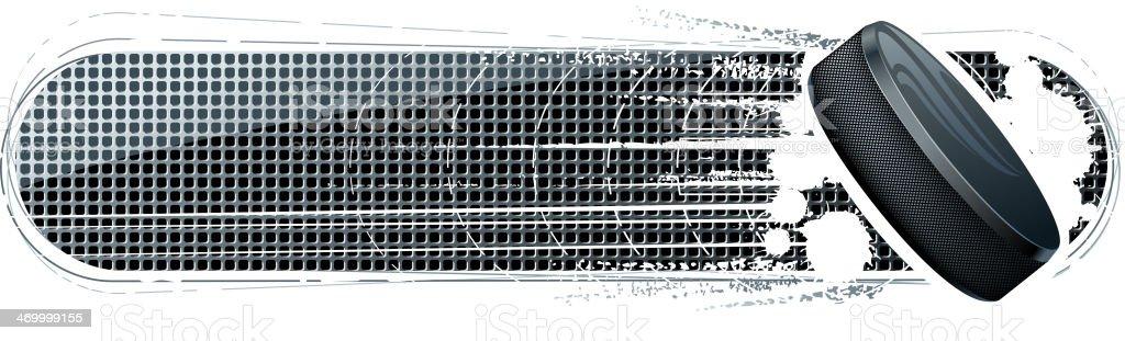 blank hockey puck banner vector art illustration