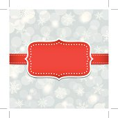 Christmas frame on snowflake background. EPS10 file contains transparencies. All objects is layered.