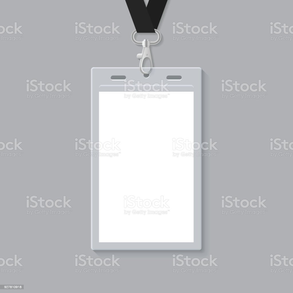 Blank Id Card Template Stock Vector Art More Images Of - Card template free: blank id card template