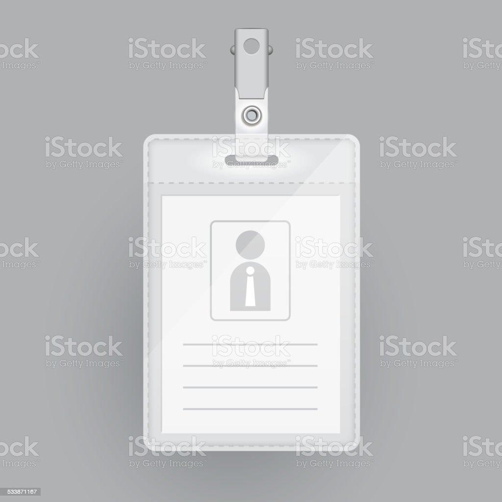 Ilustración de Tarjeta Plantilla En Blanco De Identificación y más ...