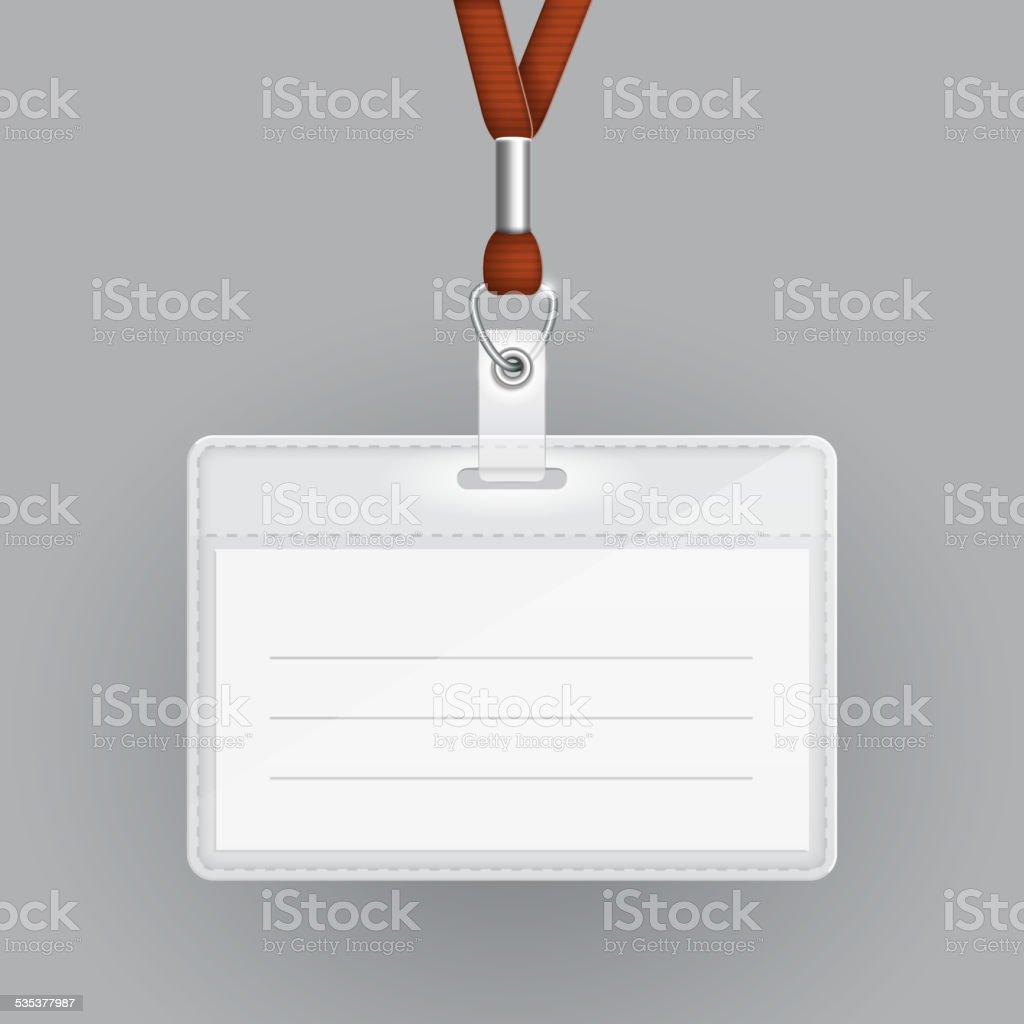 Leere Karten Vorlage Ausweis Stock Vektor Art und mehr Bilder von ...