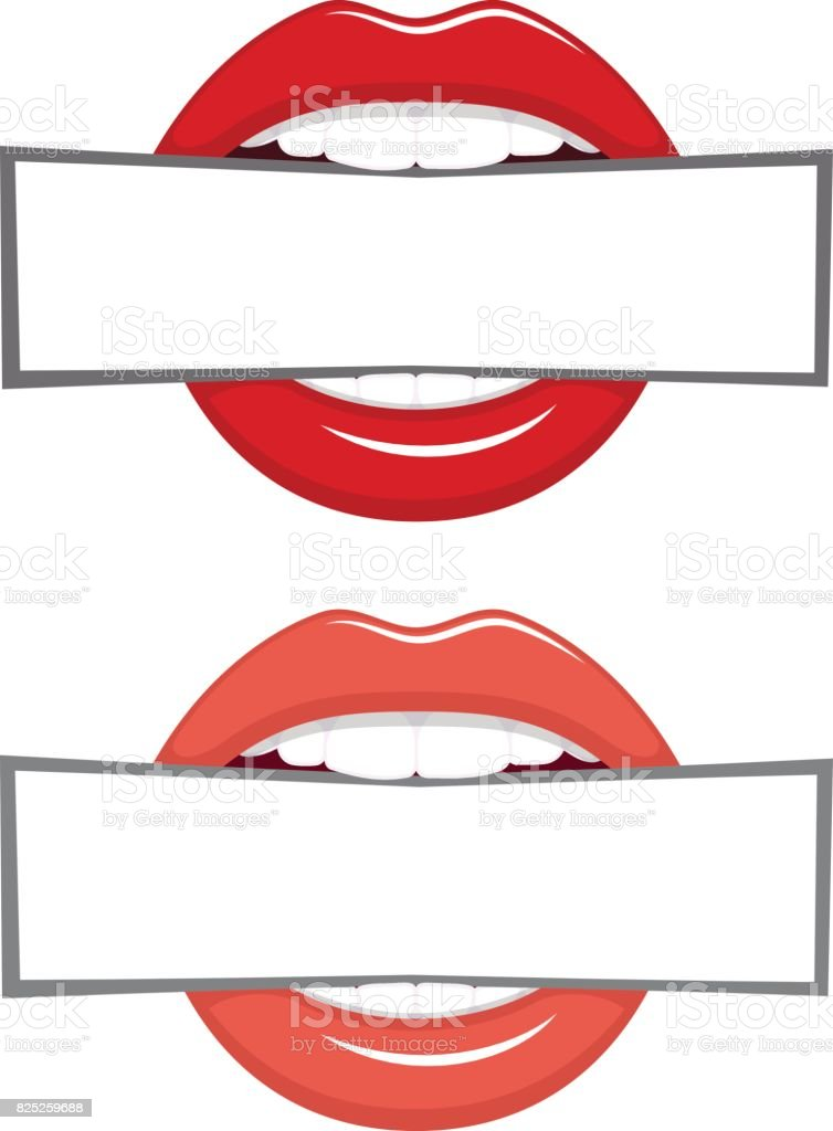 Blank in the teeth vector art illustration