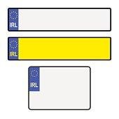 Blank Irish Licence Plates