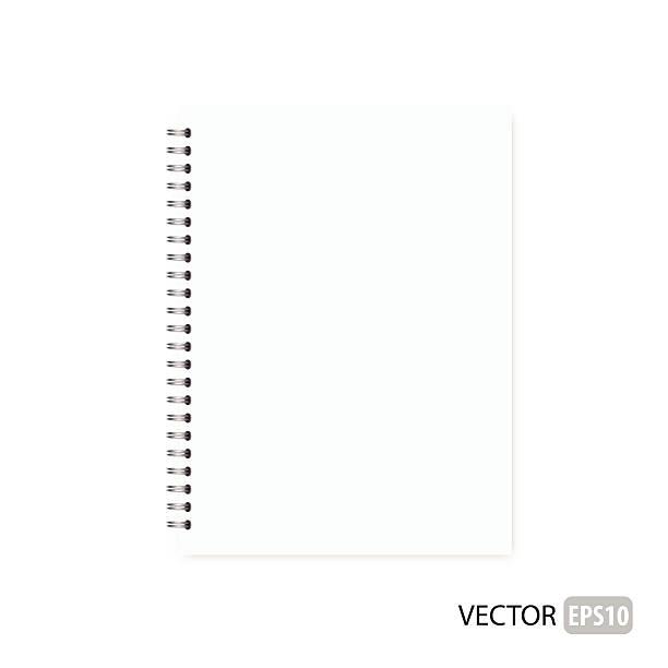 Blank isolated notepad vector. vector art illustration