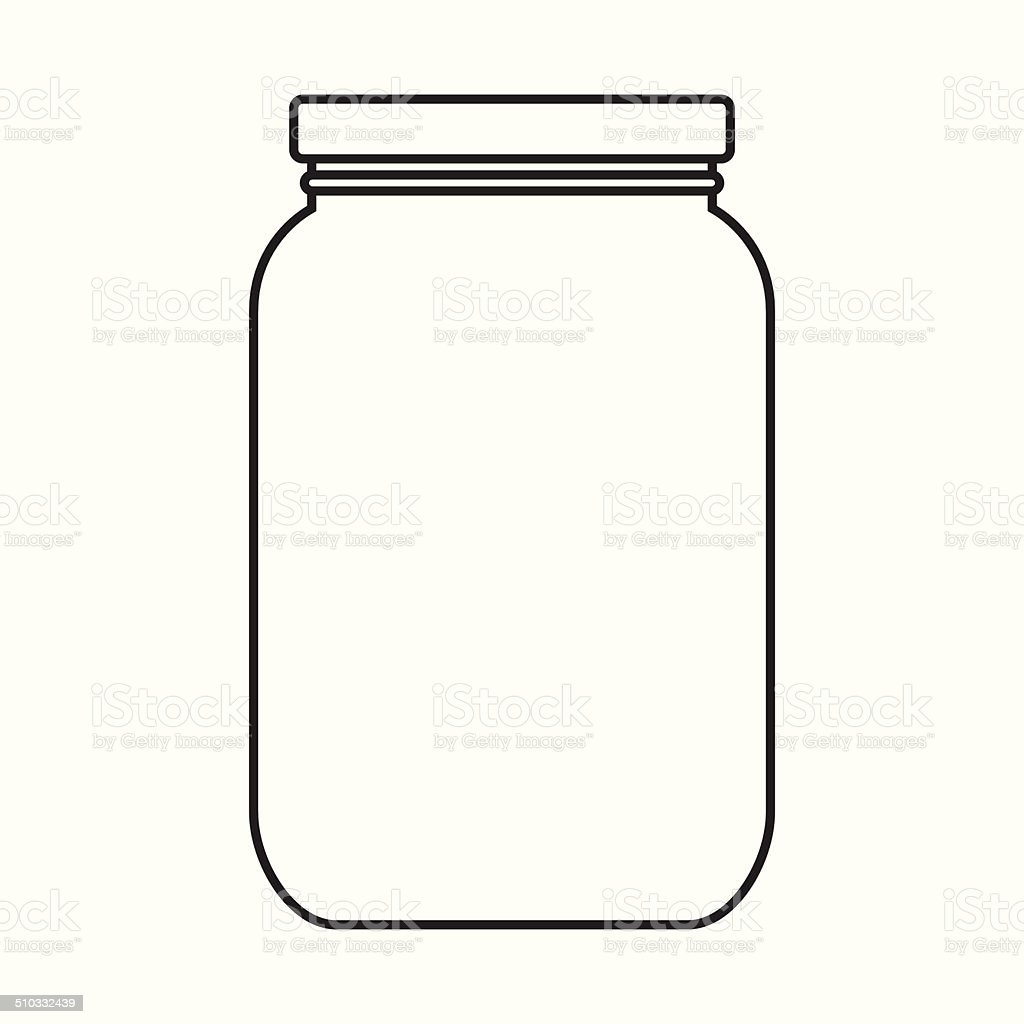 Blank jar with cap vector art illustration