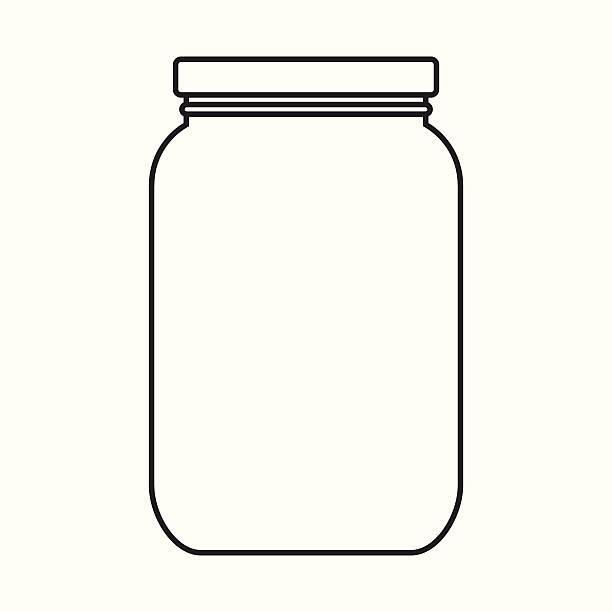 ilustrações de stock, clip art, desenhos animados e ícones de branco frasco com a tampa - jam jar