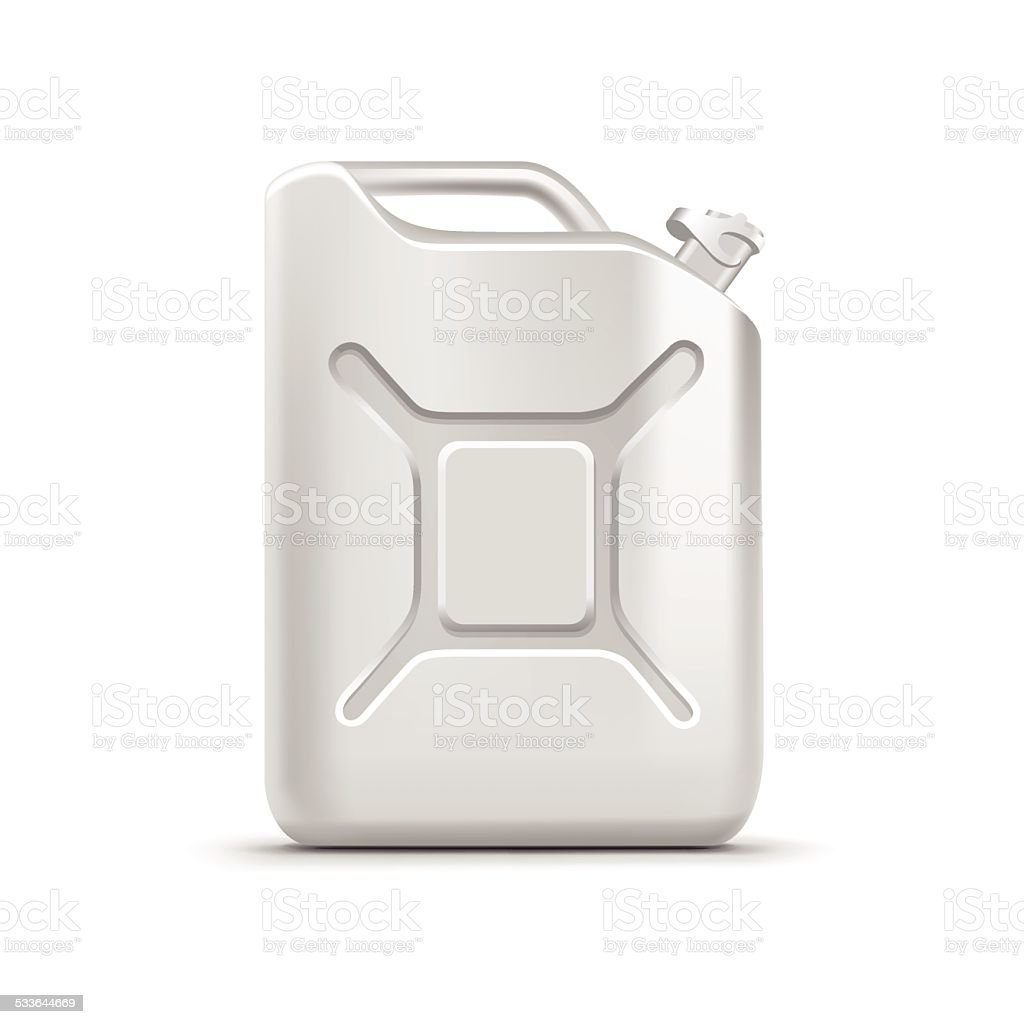 Blank Jerrycan Canister Gallon Oil Cleanser Detergent Abstergent Isolated vector art illustration