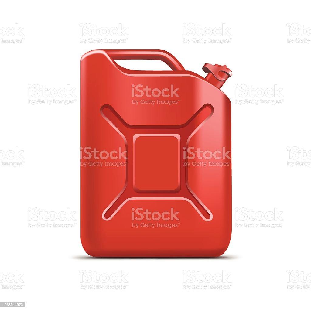 Leere Jerrycan Kanister Gallone Öl Cleanser Waschmittel Abstergent Isoliert – Vektorgrafik
