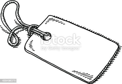 Blank Label String Drawing stock vector art 459498375 | iStock