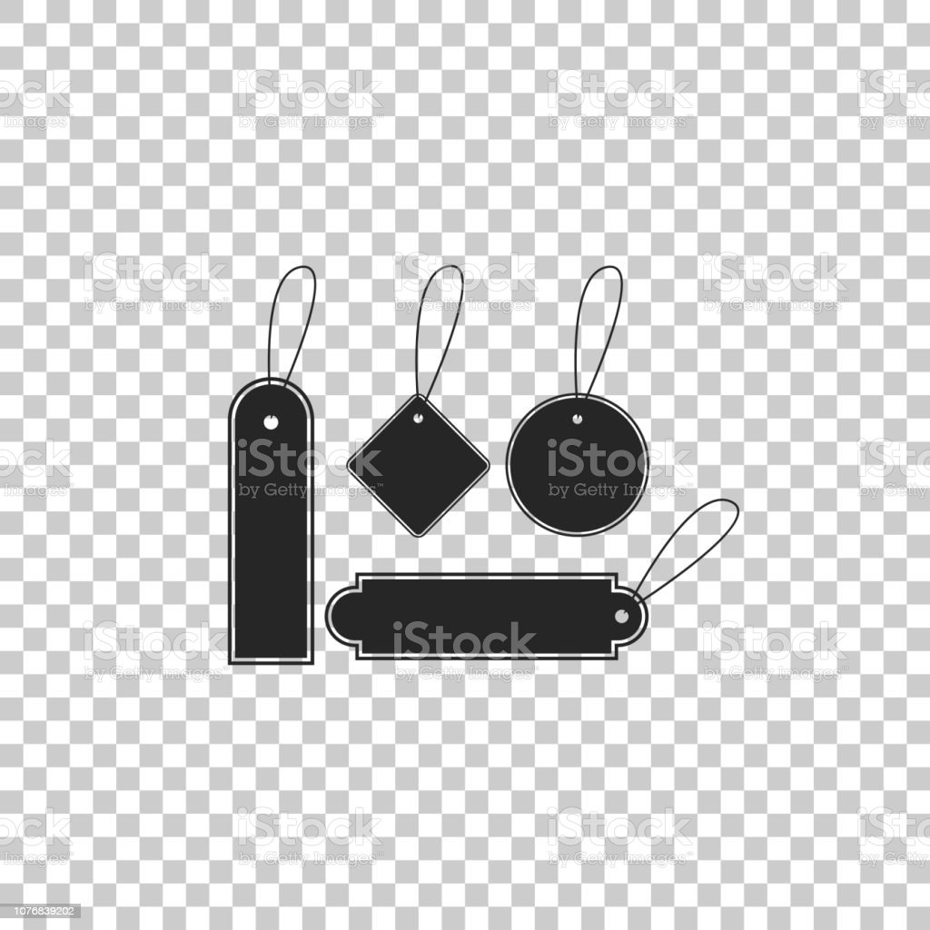 Blank Labels Template Price Tags Set Icon Isolated On