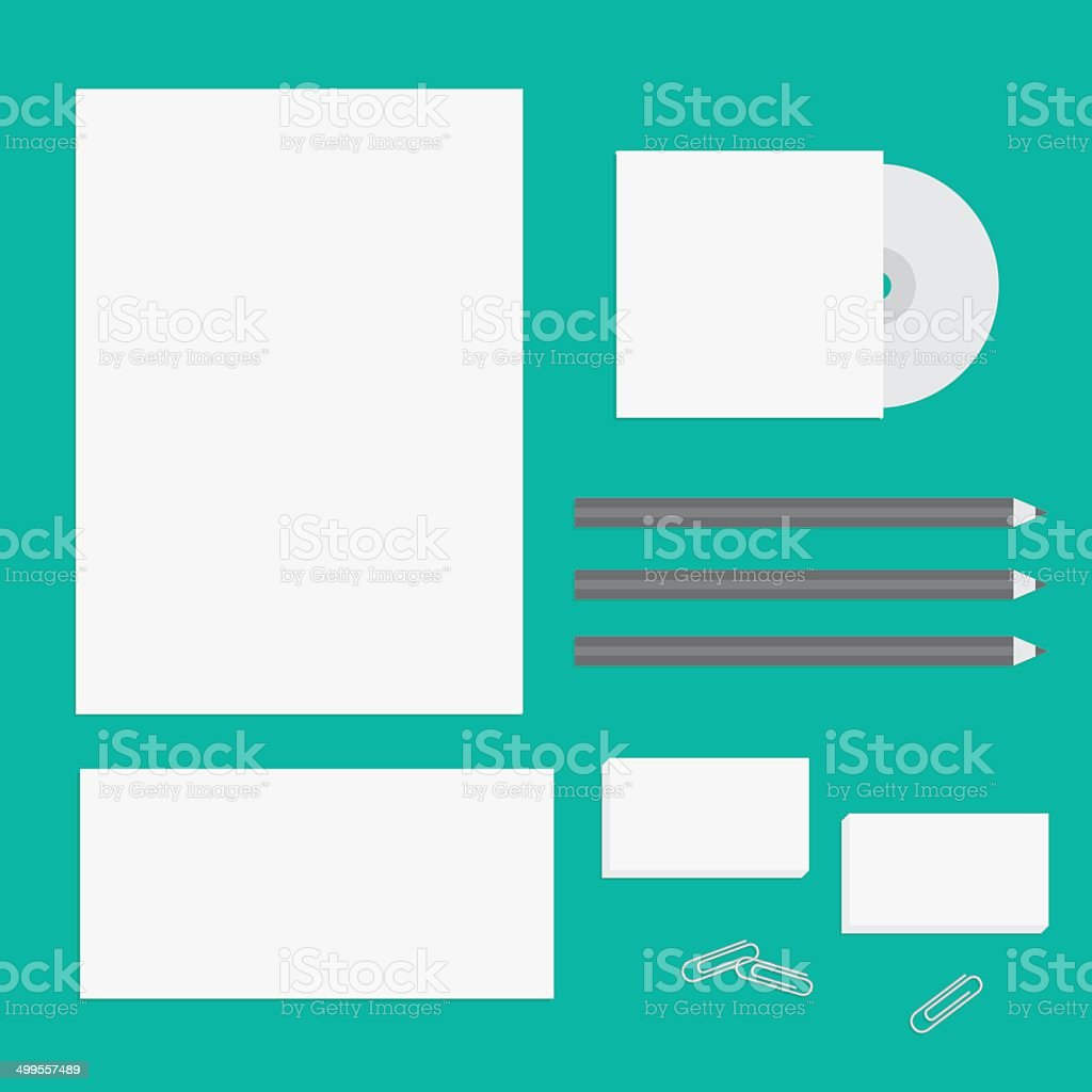 Blank Letter Pencil Envelope Cd Business Card Presentation Branding ...