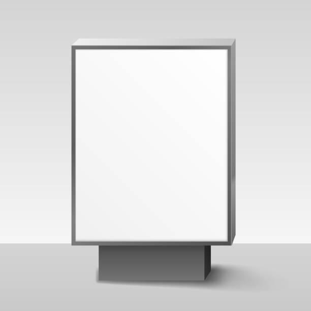 stockillustraties, clipart, cartoons en iconen met lege lightbox, of uithangbord op witte achtergrond. vectorillustratie - board game outside