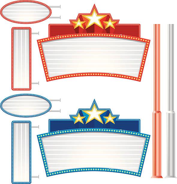 Blank Lighted Sign vector art illustration