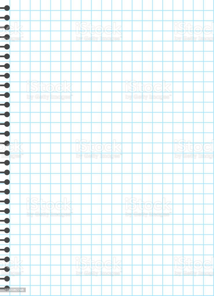 blank lined paper template one page notebook exercise book vector