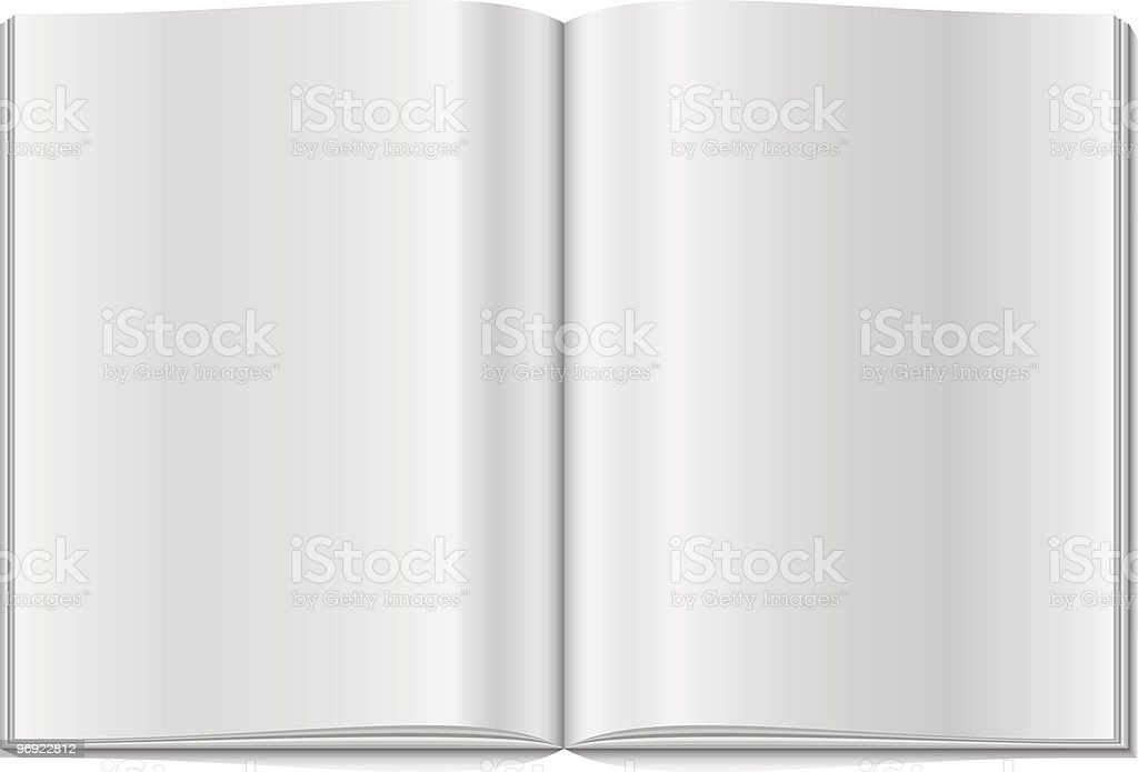 Blank magazine double-page spread royalty-free blank magazine doublepage spread stock vector art & more images of blank