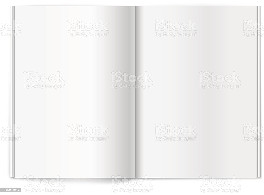 Blank magazine spread. Template for design royalty-free stock vector art