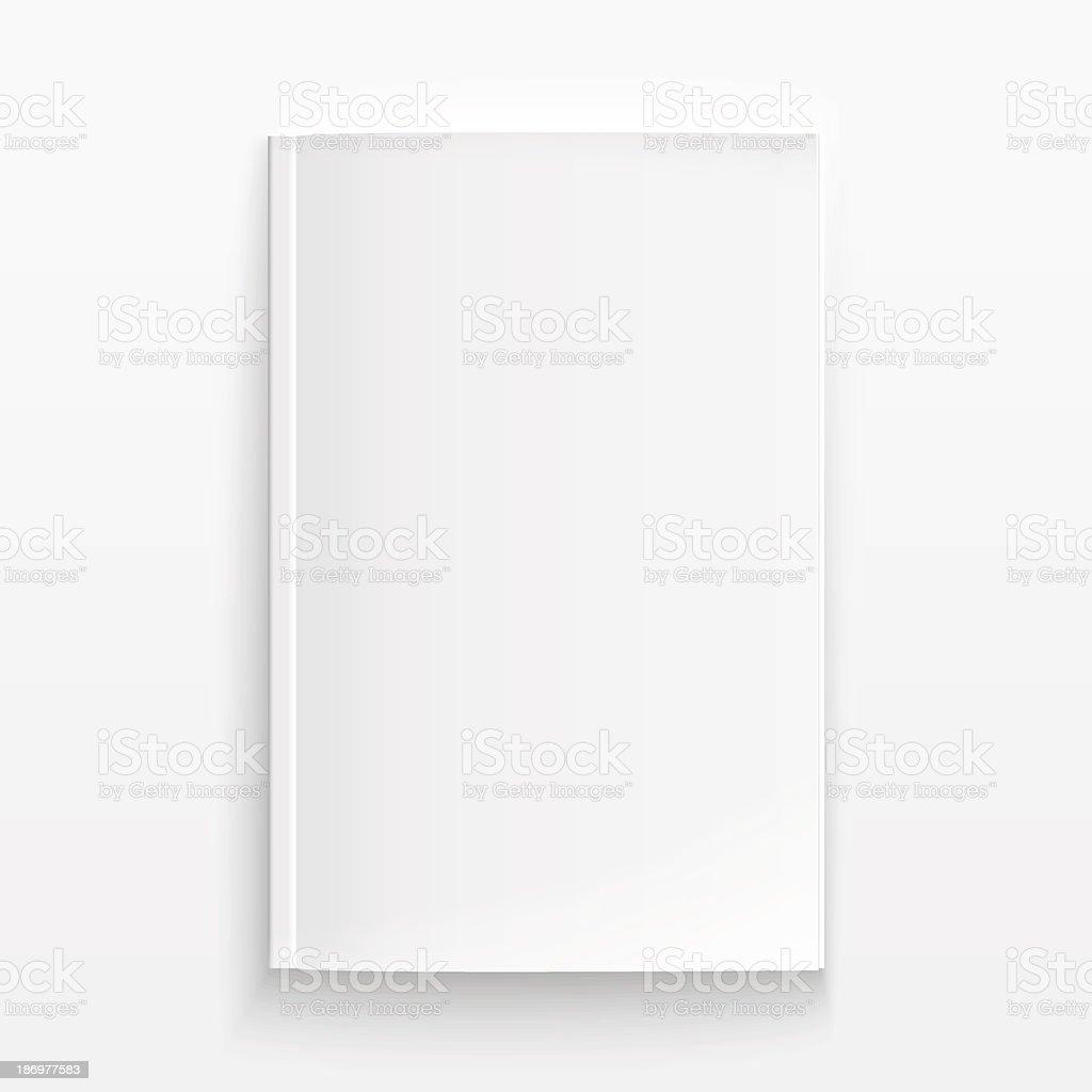 Blank magazine template with soft shadows. vector art illustration
