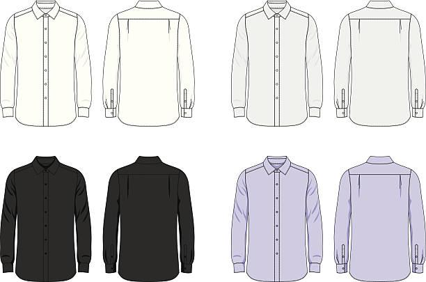 ブランク雄シャツ - 襟付きシャツ点のイラスト素材/クリップアート素材/マンガ素材/アイコン素材