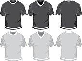 Blank male t-shirt-set