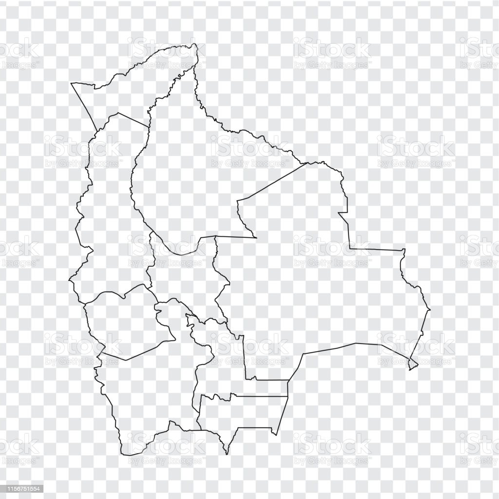 Picture of: Blank Map Bolivia High Quality Map Of Bolivia With Provinces On Transparent Background For Your Web Site Design Logo App Ui Stock Vector Vector Illustration Eps10 Stock Illustration Download Image Now