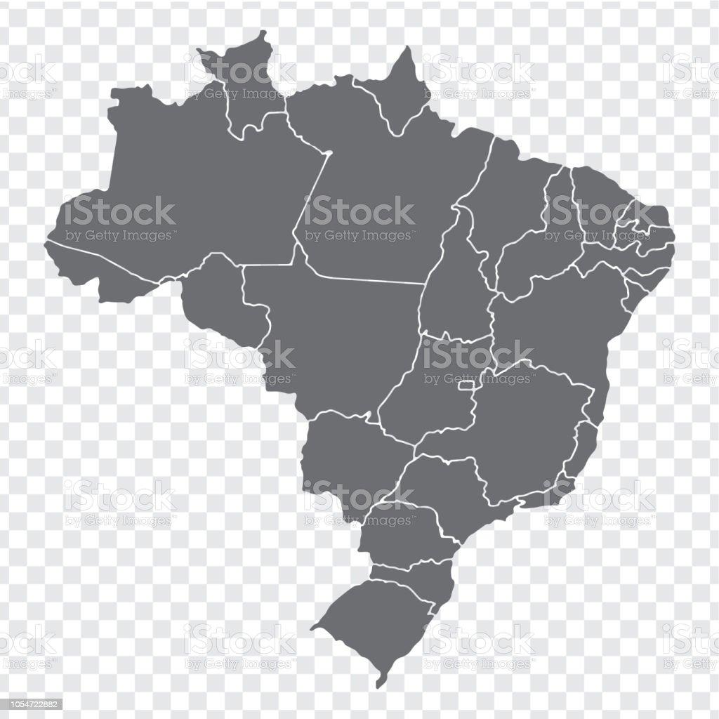 Carte Muette Bresil.Carte Muette Bresil Carte De Haute Qualite Bresil Avec Les Provinces