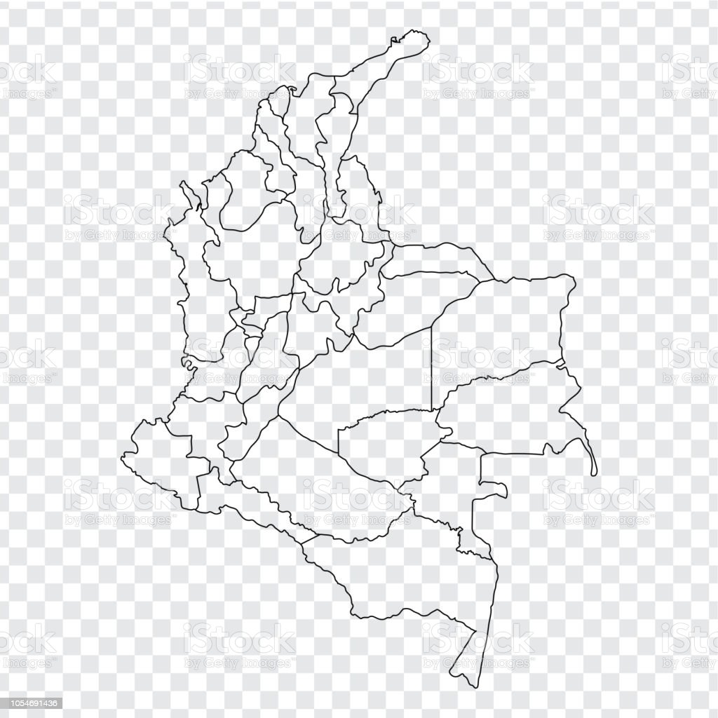 blank map colombia high quality map colombia with provinces on