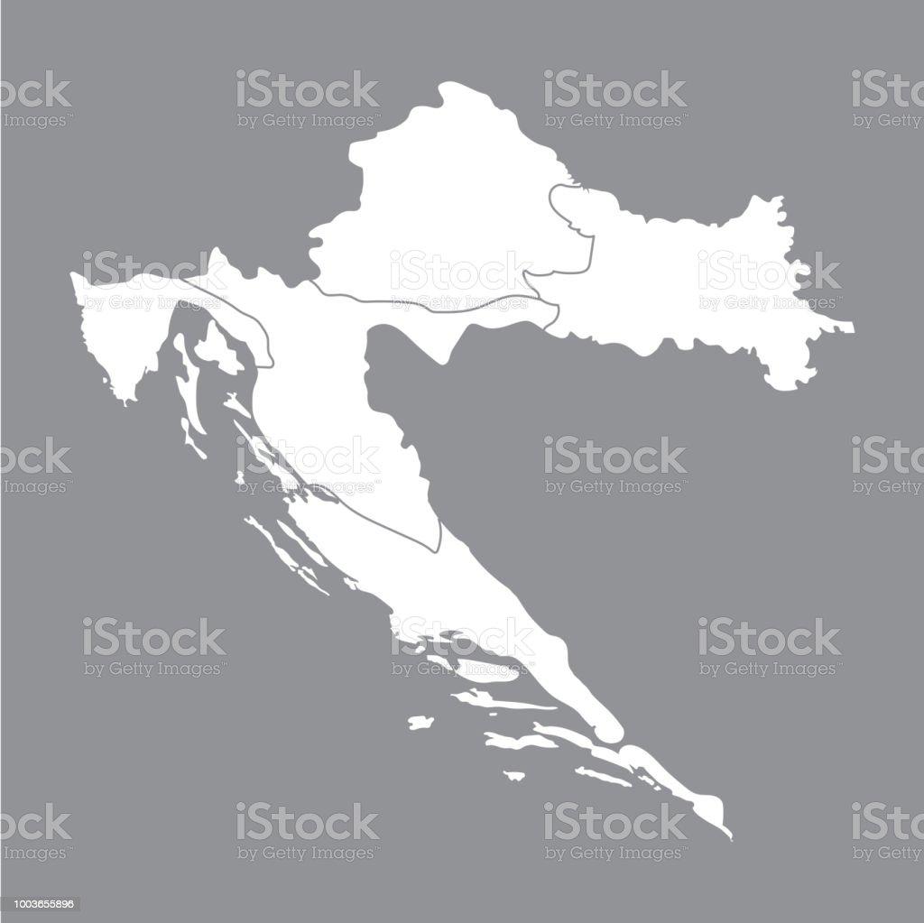 Blank Map Croatia High Quality Map Of Croatia On Gray Background Map ...