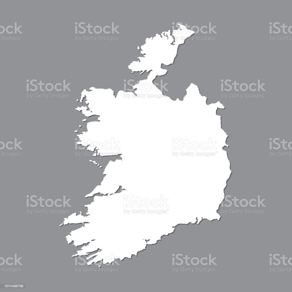 Map Of Ireland Vector.Blank Map Ireland High Quality Map Of Ireland On Gray Background For Your Web Site Design Logo App Ui Stock Vector Vector Illustration Eps10 Stock