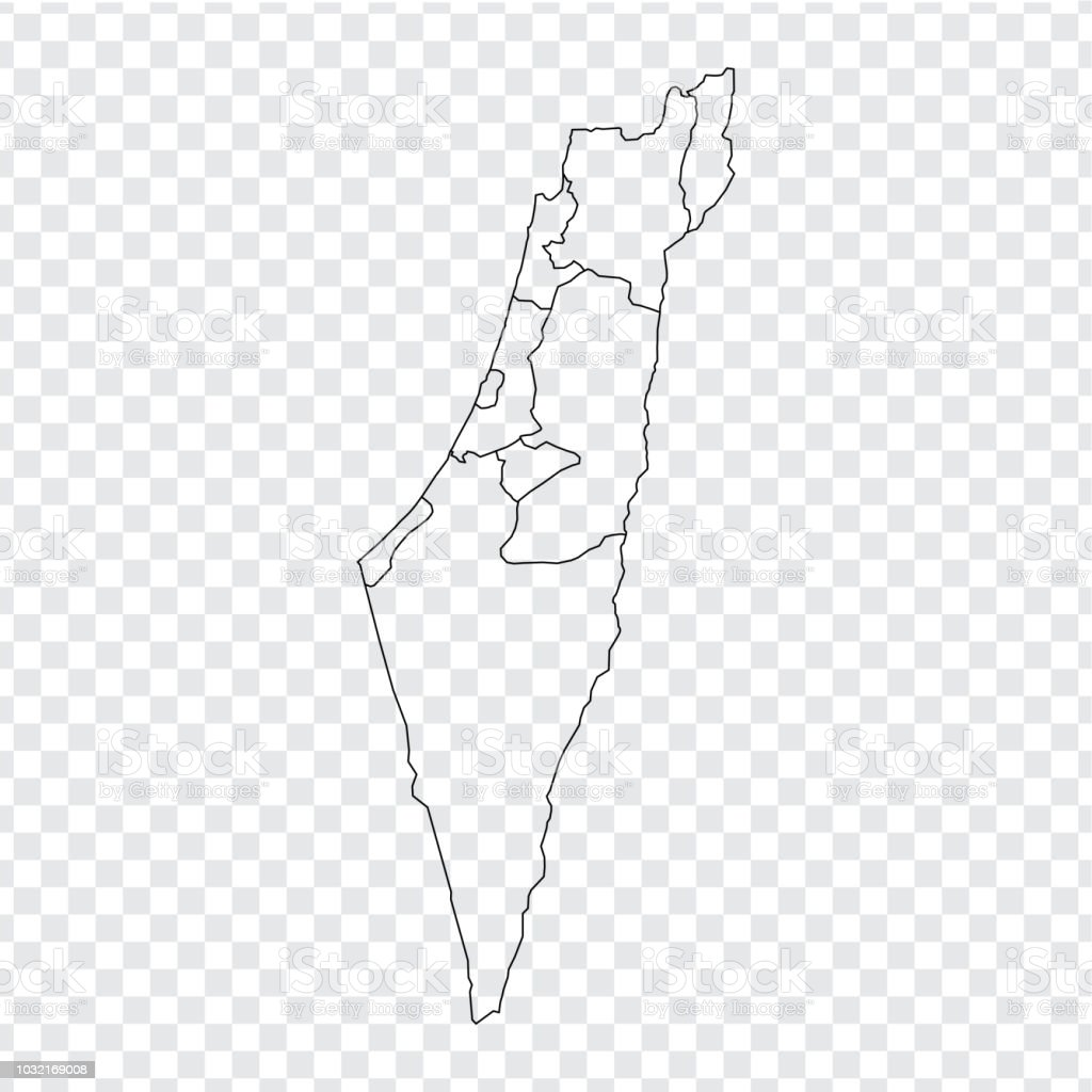 Picture of: Blank Map Israel High Quality Map Of Israel With Provinces On Transparent Background For Your Web Site Design Logo App Ui Stock Vector Vector Illustration Eps10 Stock Illustration Download Image Now