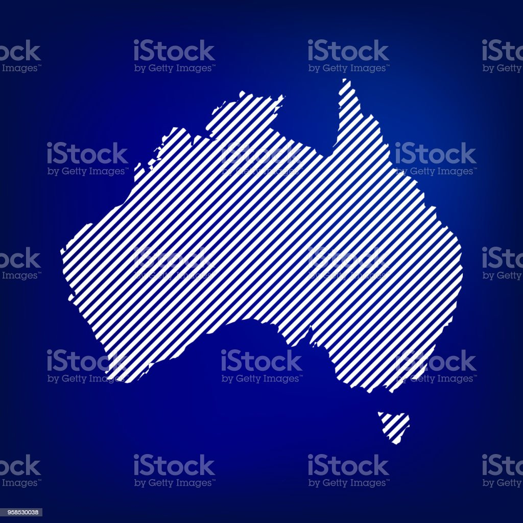 Blank Map Of Australia Concept Australia Map In Blue Background ...