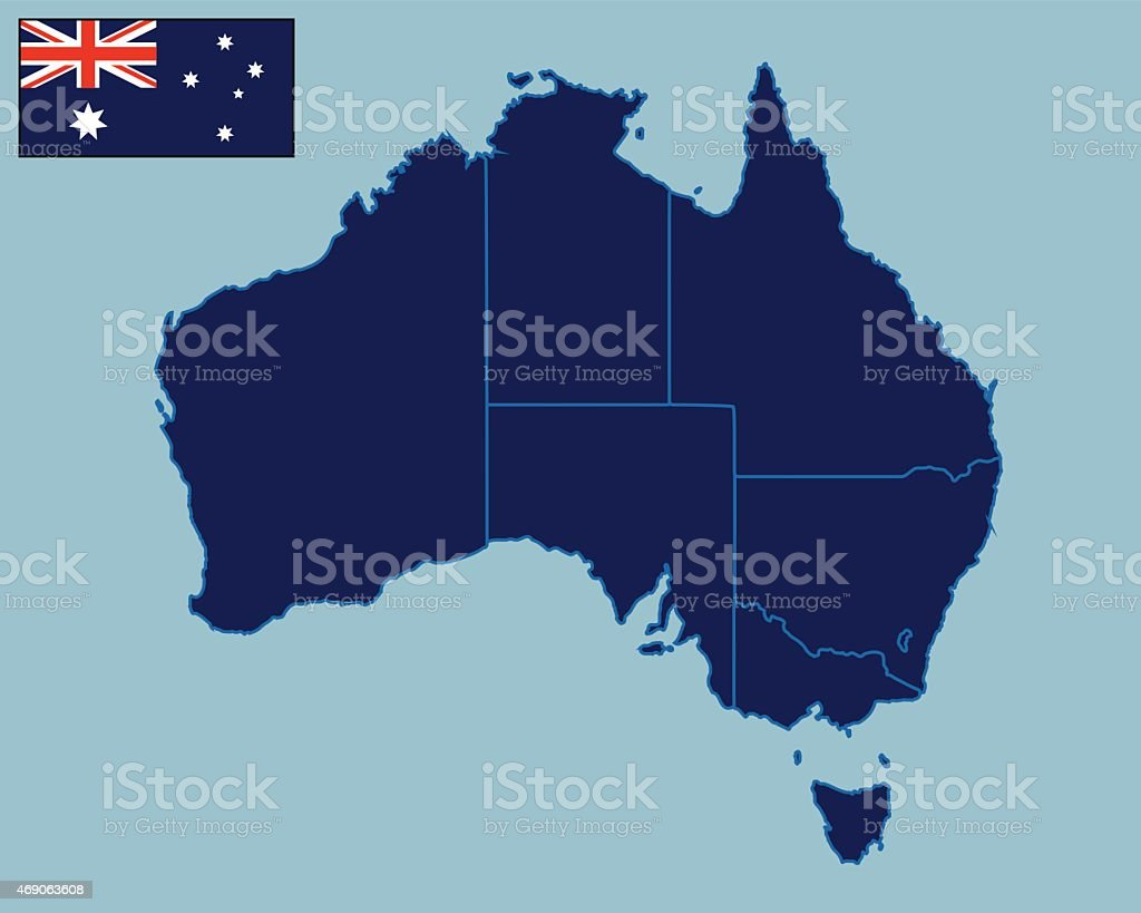 Blank Map Of Australia Stock Vector Art & More Images of 2015 ...