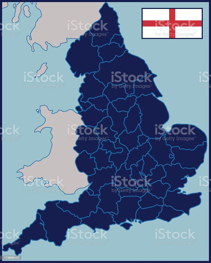 Map Of England 2015.Blank Map Of England Stock Vector Art More Images Of 2015 Istock