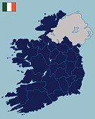 Blank Map of Republic of Ireland